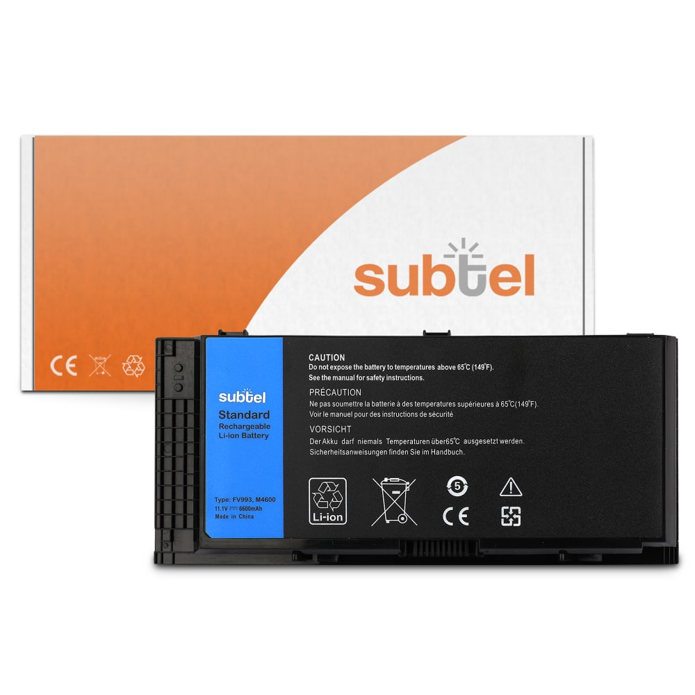 Laptop batterij voor Dell Precision M4600 P13F M4700 P21F M6600 P10E M6700 P22F - R7PND 6600mAh vervangende accu notebook