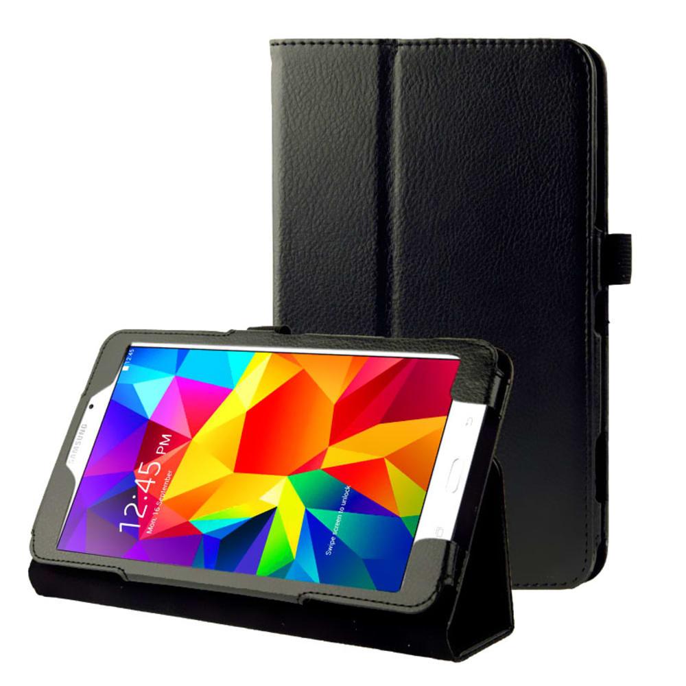 Etui Smart Case pour Samsung Galaxy Tab 4 7.0 (SM-T230 / SM-T231 / SM-T235) - Cuir synthétique, noir Housse Pochette