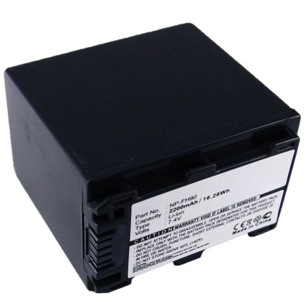 NP-FH70 NP-FH90 FH100 FH120 Batteri för Sony HDR-SR11 SR12 SR10 HDR-XR500 HDR-HC9 DCR-SR45 SR47 SR35 DCR-SX30 DCR-DVD, 2200mAh Kamera-ersättningsbatterimed lång batteritid