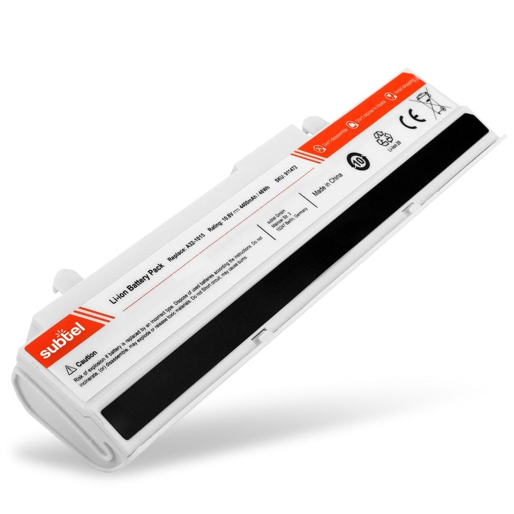 bærbar batteri til Asus Eee PC 1011 / 1015 / 1016 / 1215 / R011 / R051 / VX6 - A31-1015 (4400mAh) Notebook udskiftsningsbatteri og ekstra batteri til computer