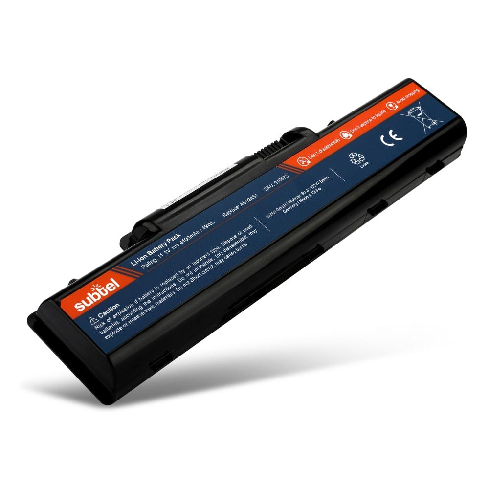 subtel® AS09A70 laptop-batteri för eMachines G525 / G725 / G625 / D525 / D725 / E525 / E725 / E625 / E430 / E527 med 4400mAh - Ersättningsbatteri, reservbatteri till bärbar dator