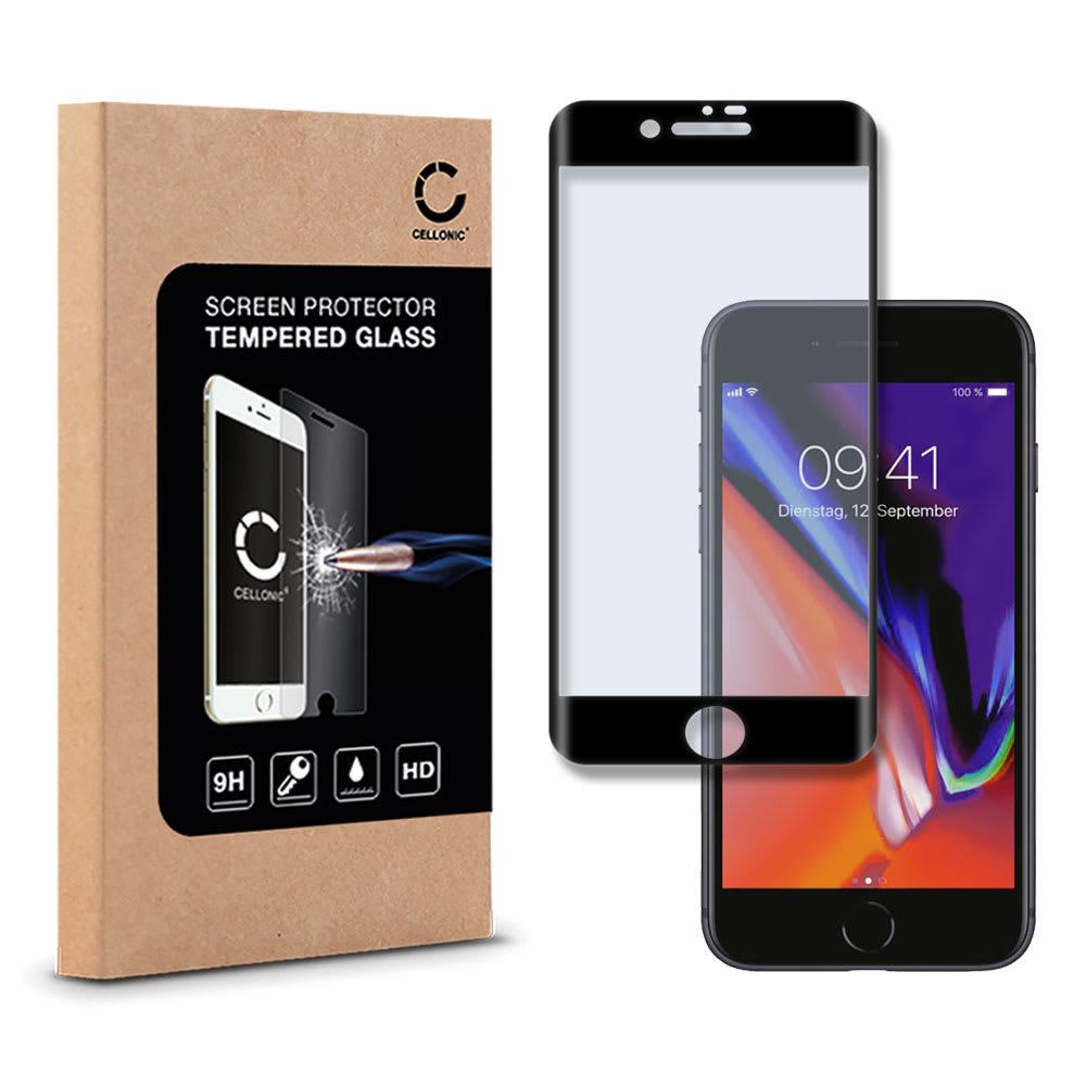 Displayschutzglas Apple iPhone 8 Plus (3D Full Cover, 9H, 0,33mm, Edge Glue) Displayschutz Tempered Glass