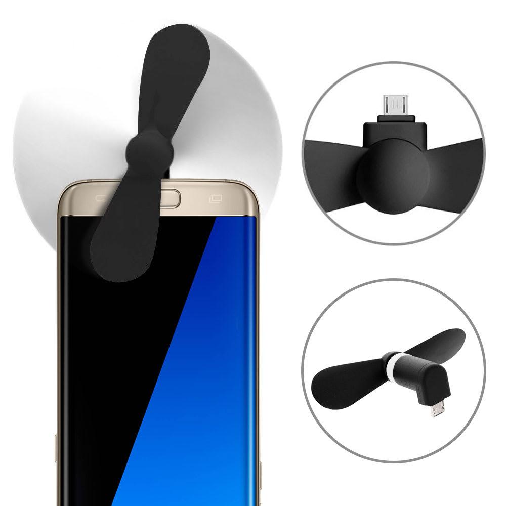 Mini Ventilateur portable micro USB pour connecter à Smartphones, Tablettes avec OTG