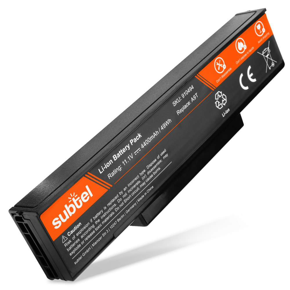 subtel® Laptop Battery for MSI CR420 / EX600 / EX720 / GT640 / GT740 / GX400 / GX740 / M670 / BTY-M68 BTY-M68 4400mAh Notebook Replacement Battery Power Bank