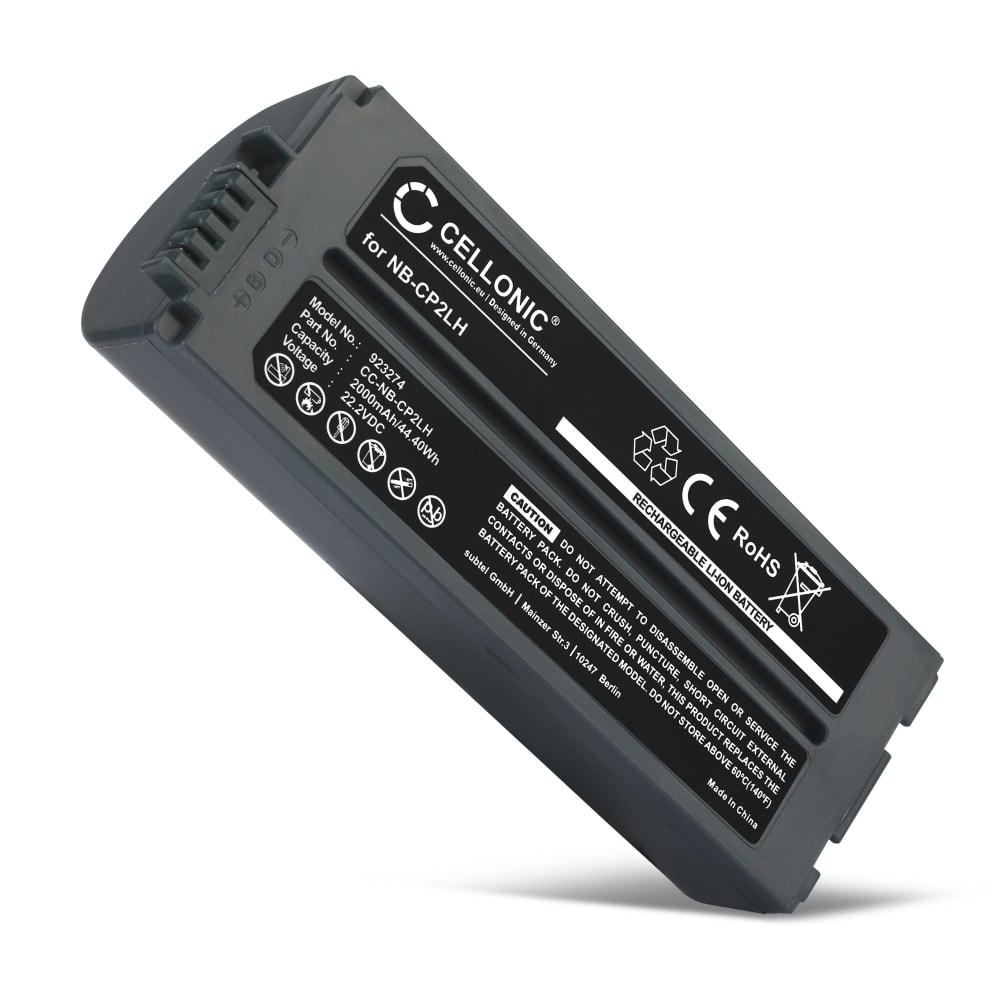Batterie pour Canon Selphy CP1200 CP1000 CP1300, Selphy CP910 CP900, Selphy CP800 CP810 CP820, Selphy CP510 CP500 CP520, Selphy CP780 CP710 CP720 CP730 CP740 CP750 CP770, Selphy CP400, Selphy CP600, Selphy CP200 - NB-CP2LH,NB-CP2L 2000mAh