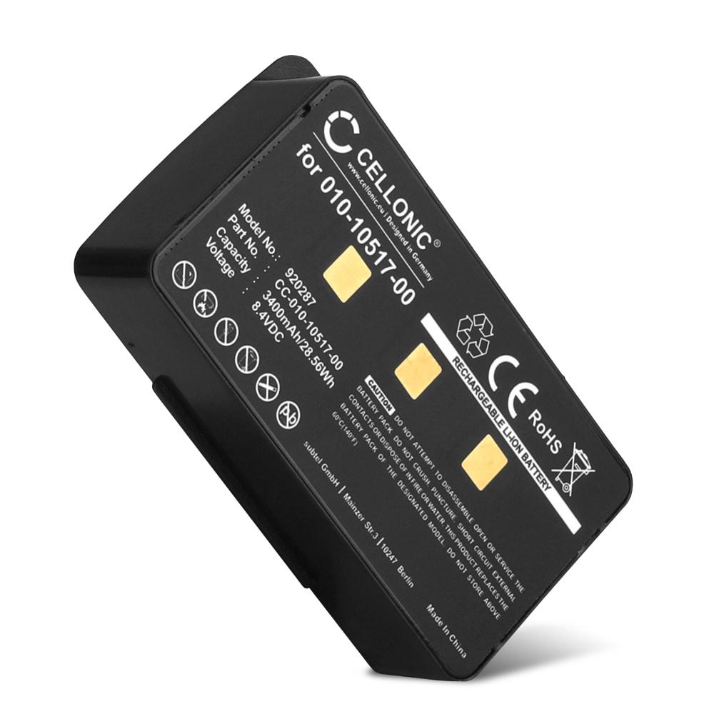 GPS Ersatz Akku für Garmin GPSMAP 276c 296 376c 378 396 478 495 496 Navigationsgerät - 010-10517-00,010-10517-01,011-00955-00 3400mAh Navi Ersatzakku , Batterie