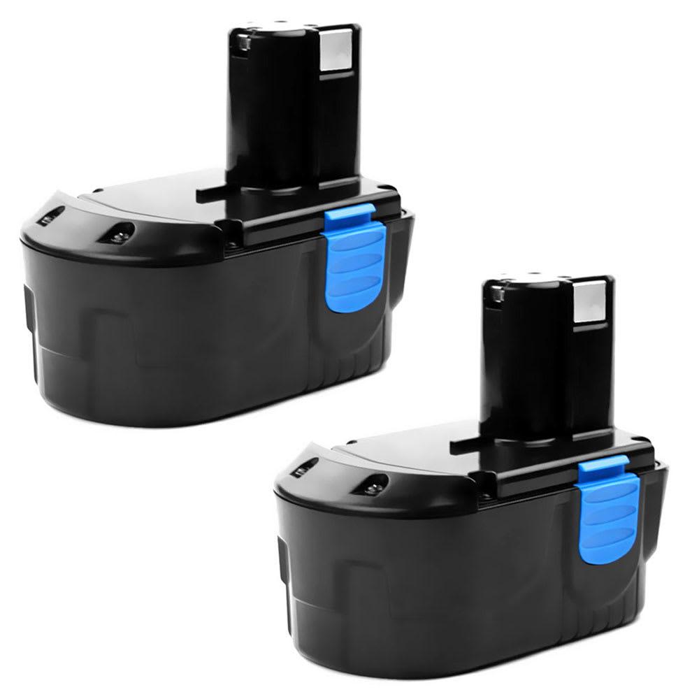 2x Batterie 18V, 3Ah, NiMH pour Hitachi CR18DL,G18DL, C 18DL, DS 18DVF3, DS18DL - EB1814SL, EB1820, EB1826HL, EB1830H,EB1830HL, BCC1815 batterie de rechange pour outils électroportatifs