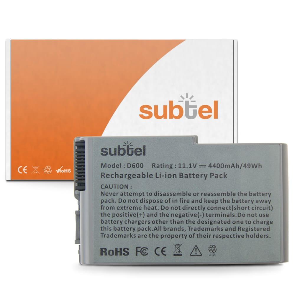 bærbar batteri til Dell Inspiron 500m / 510m / 600m / Latitude D500 / D505 / D510 / D520 / D530 / D600 / D610 - C1295 (4400mAh) Notebook udskiftsningsbatteri og ekstra batteri til computer