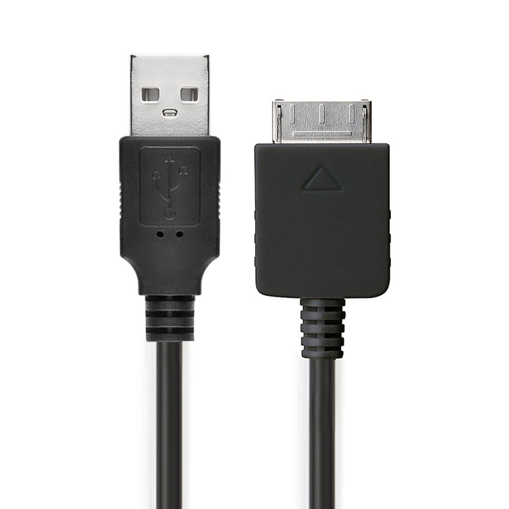 USB Kabel til Sony Walkman NWZ-ZX2, NWZ-A15, -A10, NWZ-A816, -A818, NWZ-E858, NWZ-ZX1, -ZX100 - Opladningskabel 1m 1A PVC Datakabel sort