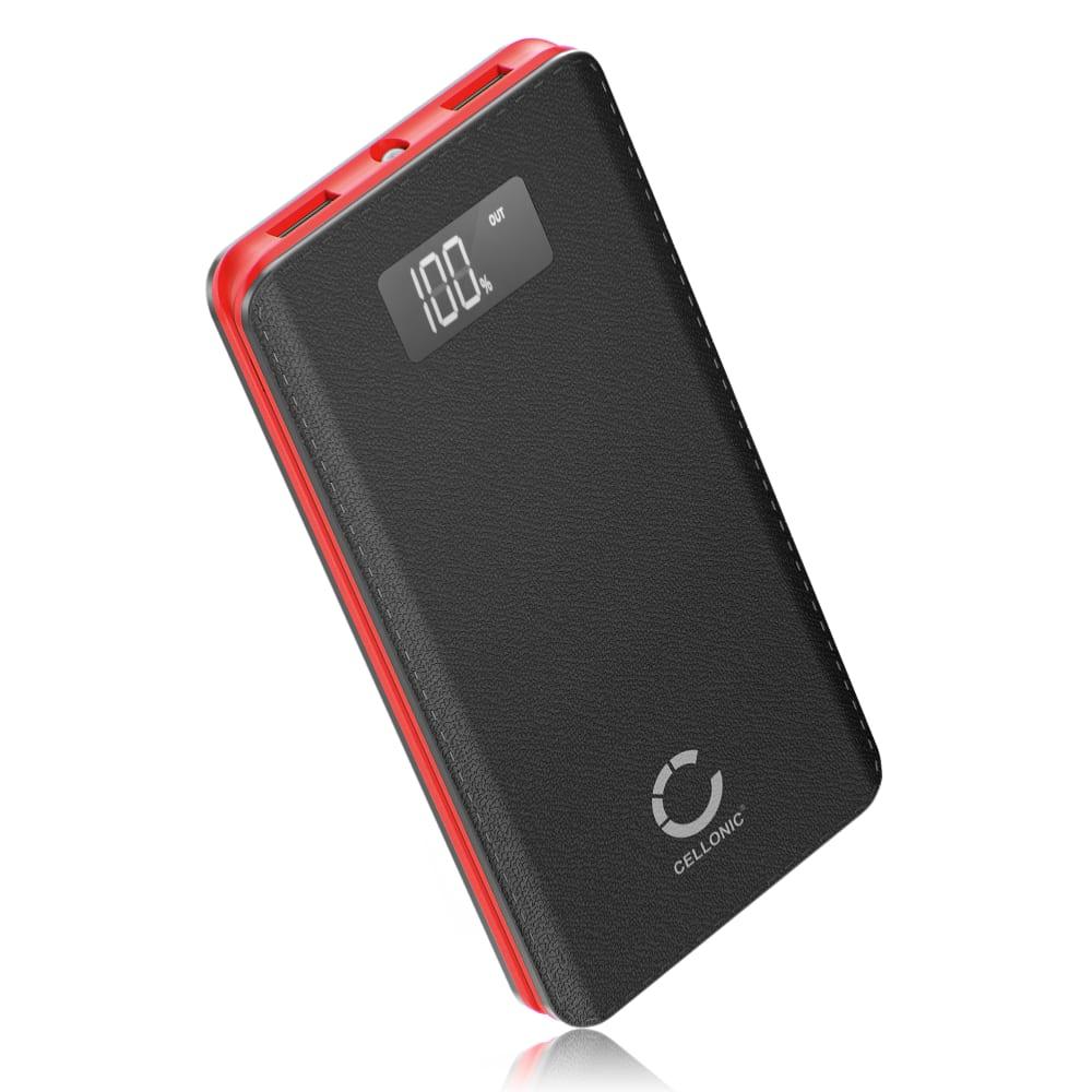 CELLONIC® USB Powerbank mit 10000mAh und 2 USB Ports, 5V 2A - mobiles Ladegerät,Externer Akku, Schnellladegerät