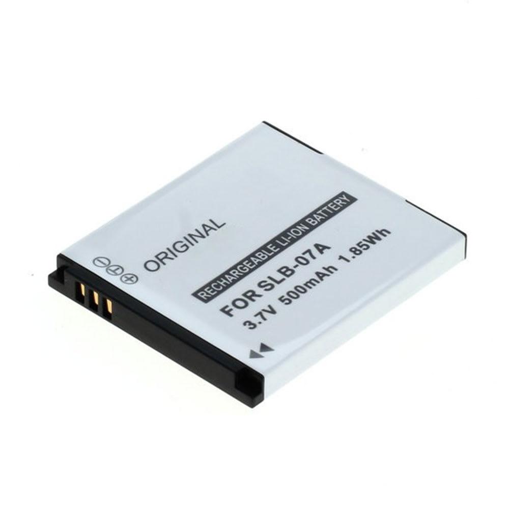 Kamera Batteri til Samsung PL150 PL151, ST45, ST50 ST500 ST510 ST550 ST560, ST600, TL100, TL205 TL210 TL220 TL225, TL90, TTL-20 - SLB-07A SLB-07B AD43-00193A 500mAh Udskiftsningsbatteri til kamera