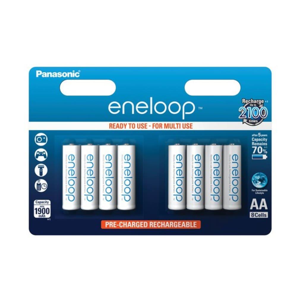 Accus Batteries AA Panasonic eneloop BK-3MCC (Mignon, R6, LR6, HR6) 8x
