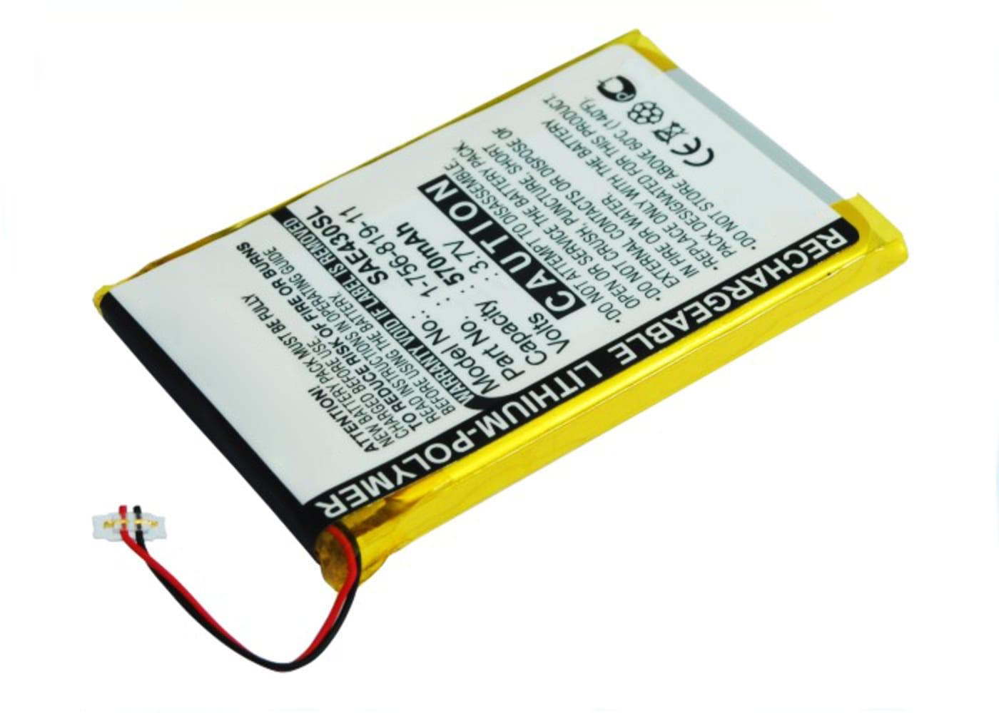 Batterij voor Sony NW-E435 -E436 -E438F -E436F - 1-756-819-11,1-756-819-12 570mAh vervangende accu