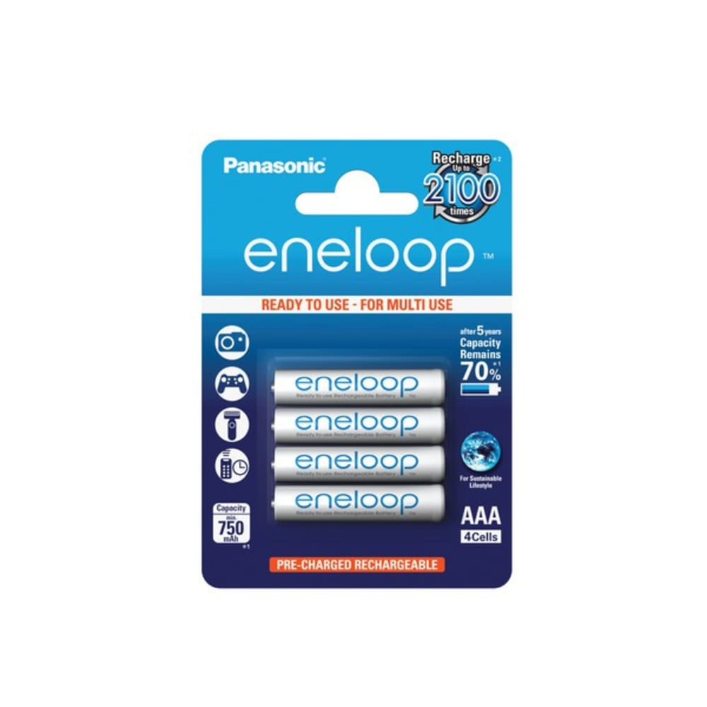 Accus Batterijen AAA  Panasonic eneloop BK-4MCCE 4x AAA / Micro / R03 / LR03 / HR03