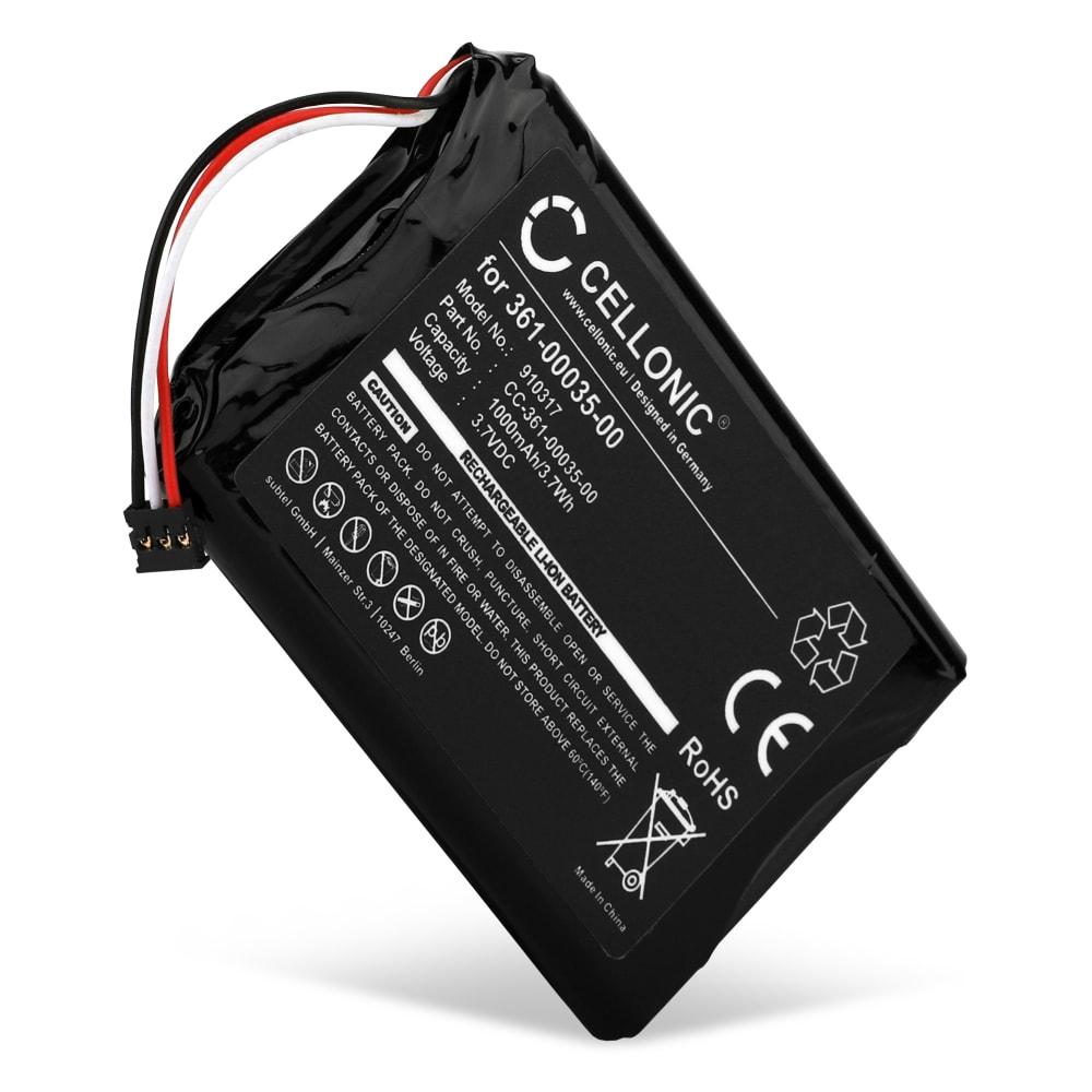 Batería para Garmin nüvi 2350LT nüvi 2360LT nüvi 2370LT nüvi 2340LT / Edge Touring Plus - 361-00035-00,361-00035-02 (1000mAh) Batería de repuesto
