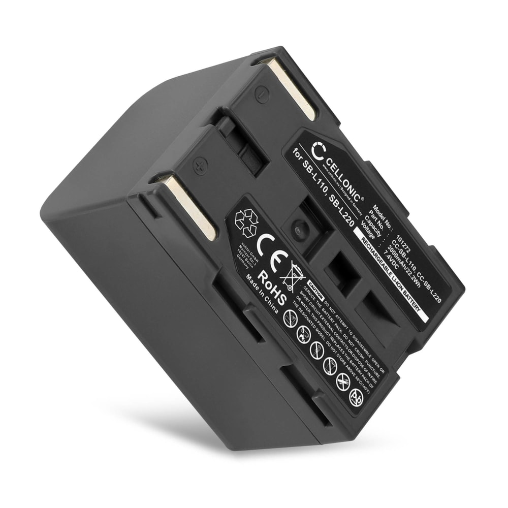 Kamera Batteri til Samsung VP-D101 -D303 -D301 VP-D80 VP-D70 VP-D55 VP-D31 VP-D20 -D21 VP-D10 SC-D23 Medion MD9090 - SB-L110 SB-L220 SB-LS110 3000mAh Udskiftsningsbatteri til kamera