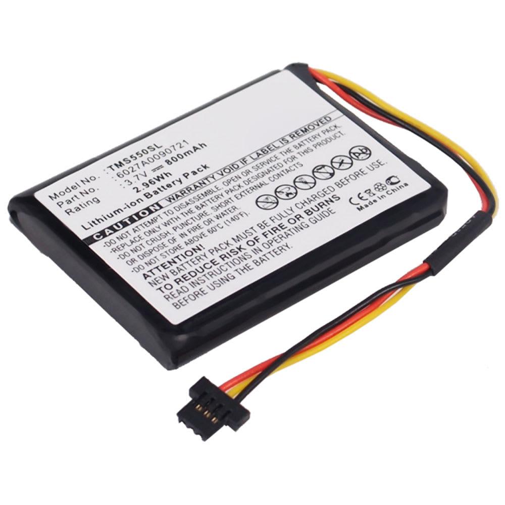 subtel® 6027A0090721 GPS-batteri för TomTom Start 55 / 52 / 50 / 45 / 1EF0.017.03 / 1ET0.052.09 / 4EF00 / 4EF0.017.00 med 800mAh - navigatorbatteri med lång batteritid