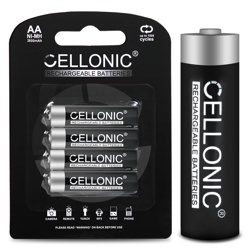 AA NiMH Rechargeable Batteries from CELLONIC® - 2600mAh, 1.2 V (4 Pack)
