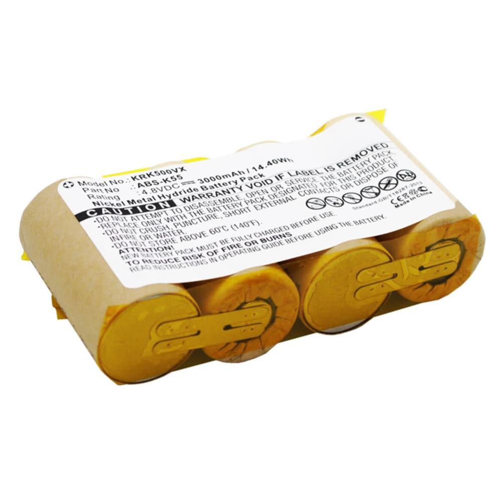Batterie aspirateur 4.8V, 3000mAh, NiMH pour Karcher K 50,K 85,1.258-409.0, BF9900,K50 1.258-101.0 - batterie de remplacement pour 4.070-678.0, ABS-K55