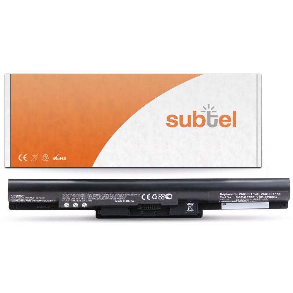 Batteria subtel® VGP-BPS35A per Sony VAIO SVF14 Fit E / SVF15 Fit E Affidabile ricambio da 2200mAh Sostituzione ottimale