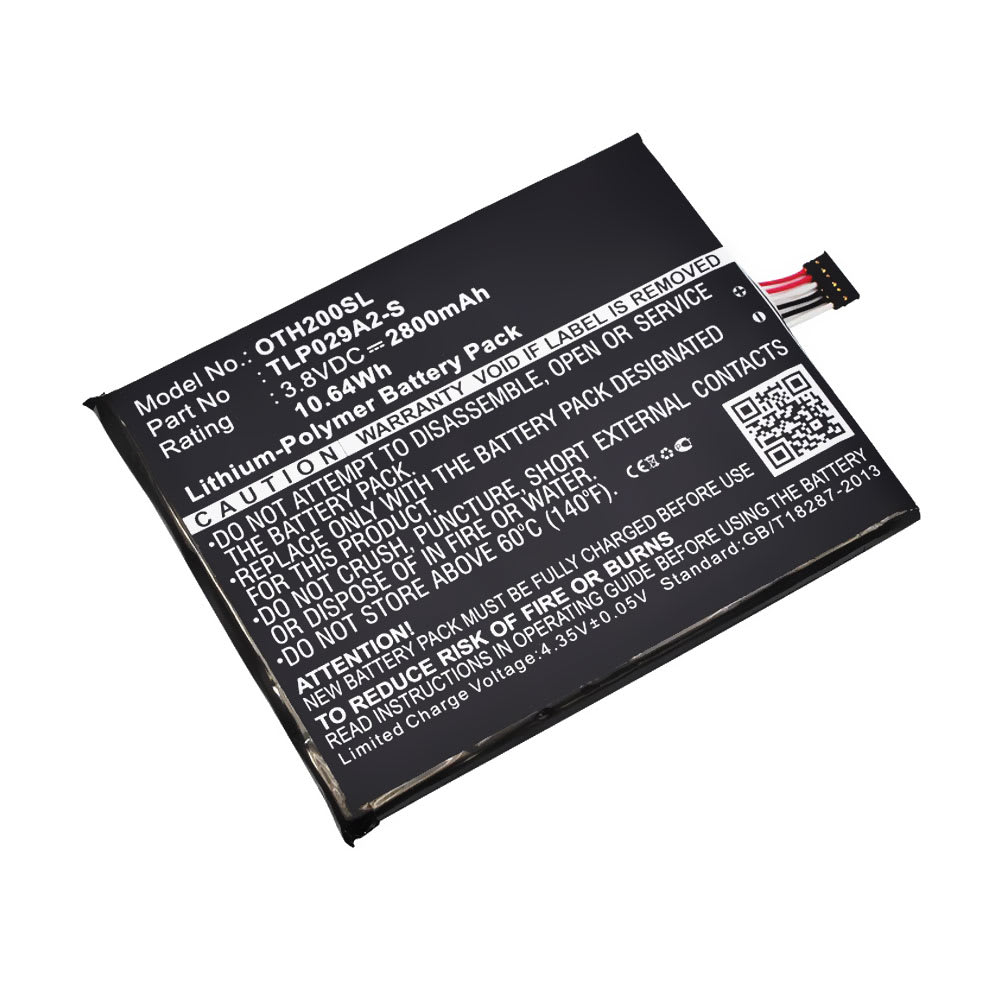 Akku für Alcatel Idol 3 (5.5) (6045 / 6045K) / One Touch Pixi 3 (5.5) Handy / Smartphone - Ersatzakku TLP029AJ, TLP029A2-S 2800mAh , Neuer Handyakku