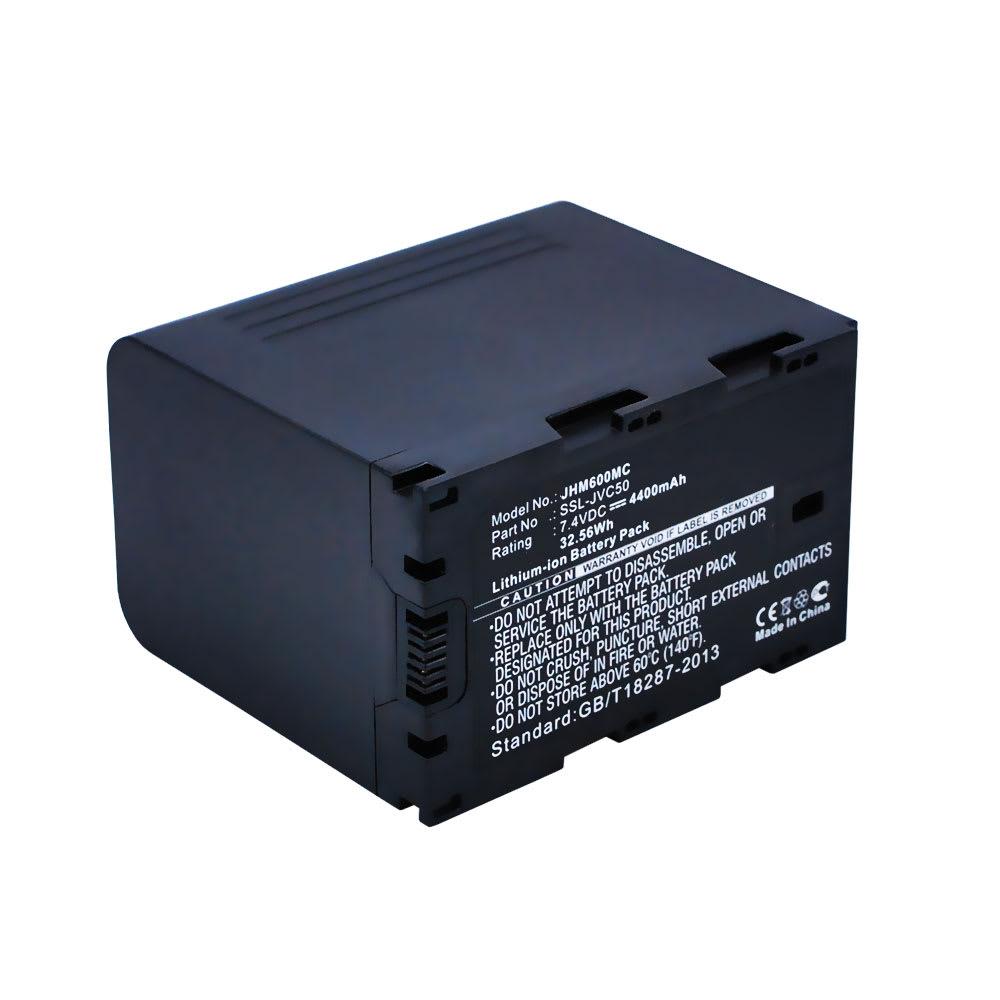 Kamera Akku für JVC GY-HM200 GY-HM600 GY-HM620 GY-HM650 GY-HM660 GY-HMQ10 GY-LS300CHE JY-HM360E - SSL-JVC50 SSL-JVC75 Ersatzakku 4400mAh , Batterie