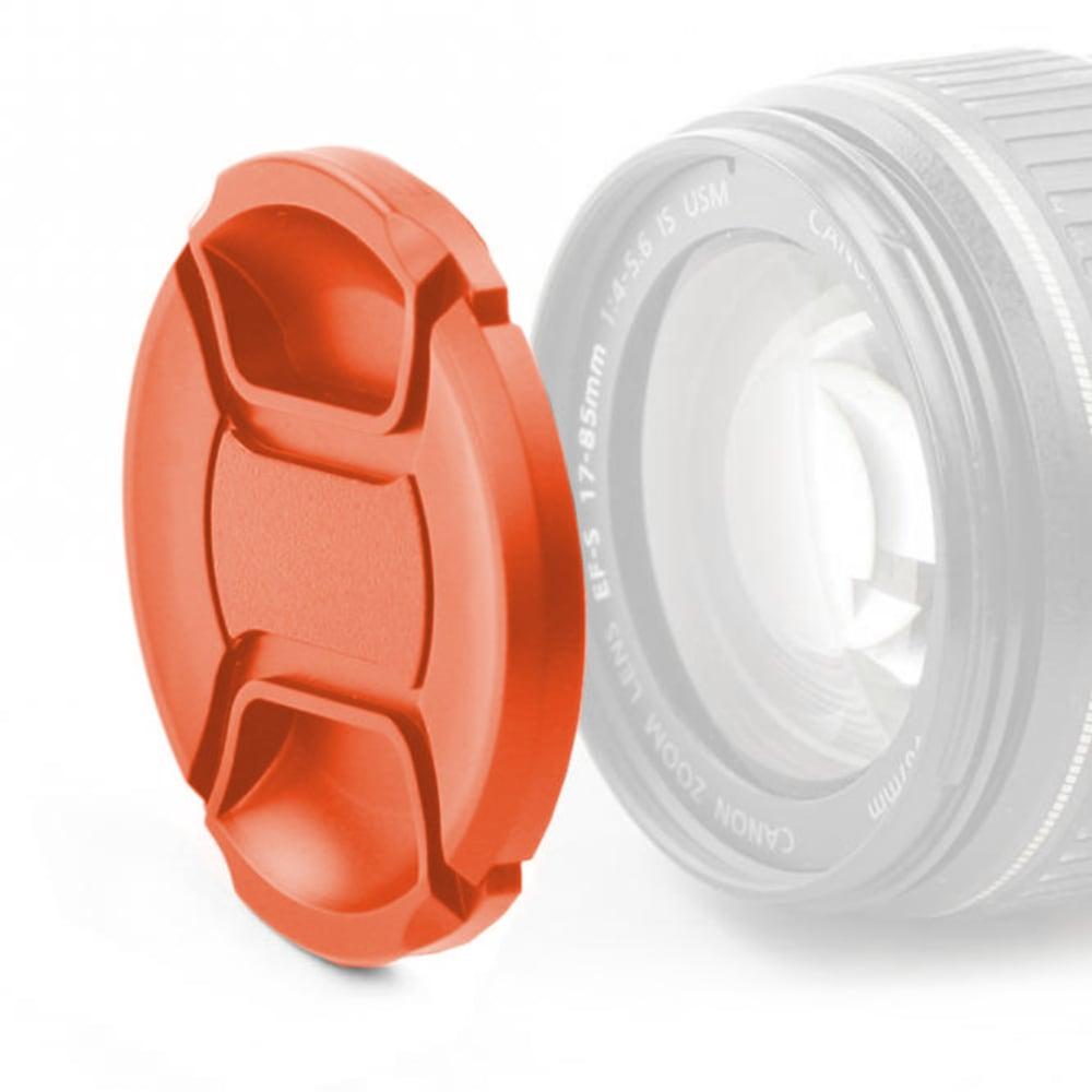 Objektivdeckel Vorderseite für Ø 55mm (E-55 II, LC-N55, O-LC55, LCF-55, ALC-F55S), Snap On: Innengriff / Center Pinch Kappe, Schutzdeckel