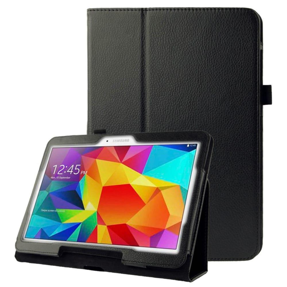 Tasche für Samsung Galaxy Tab 4 10.1 (SM-T530 / SM-T531 / SM-T533 / SM-T535) - Kunstleder, schwarz Tasche Case Schutzhülle