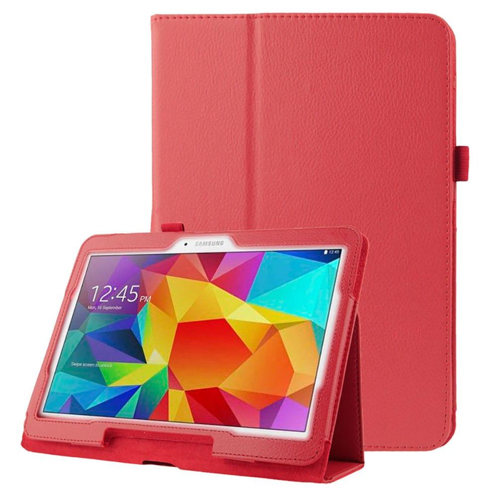 Étui pour Samsung Galaxy Tab 4 10.1 (SM-T530 / SM-T531 / SM-T533 / SM-T535) - Cuir synthétique, rouge Housse Pochette