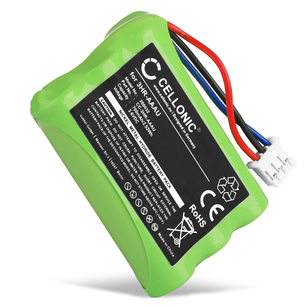 Batería para Bang & Olufsen BEOCOM 6000 - 3HR-AAAU,70AAAH3BMXZ,T373 (700mAh) Batería de reemplazo, pila, Teléfono fijo