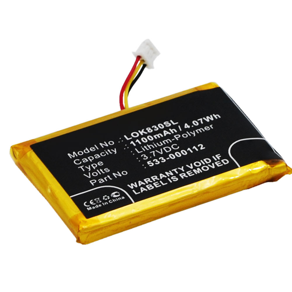 Batterie pour Logitech K830 / Illuminated K830 - 533-000112 1100mAh