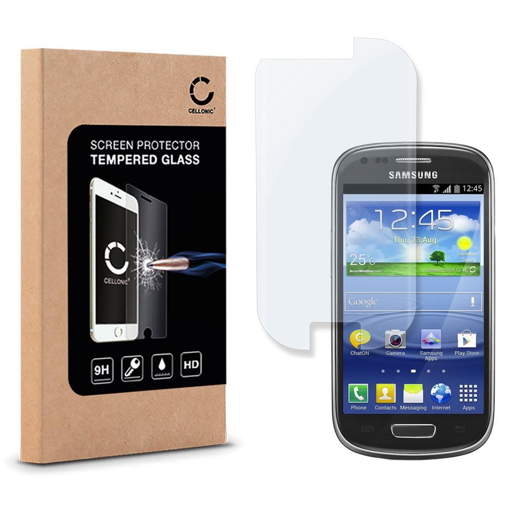Panzerglas für Samsung Galaxy S3 Mini (GT-i8190 / GT-i8200) - Tempered Glass (HD-Qualität / 2.5D / 0,33mm / 9H)