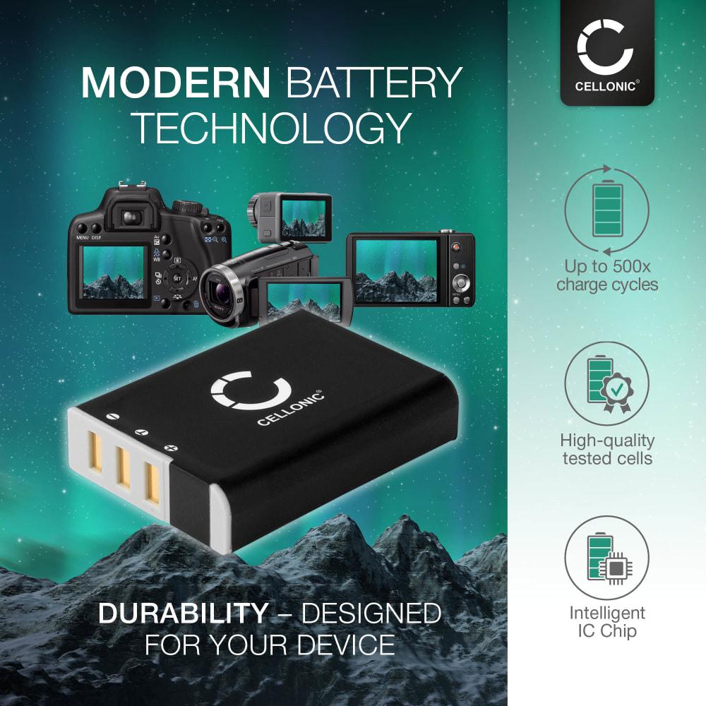 Bateria para camaras Ricoh A12 28 mm F2.5 A12 50 mm F2.5 A12 Mount A16 24-85 mm F3.5-5.5 GXR P10 28-300 mm F3.5-5.6 VC S10 24-72 mm F2.5-4.4 VC - DB-90 1800mAh DB-90 Batería de repuesto