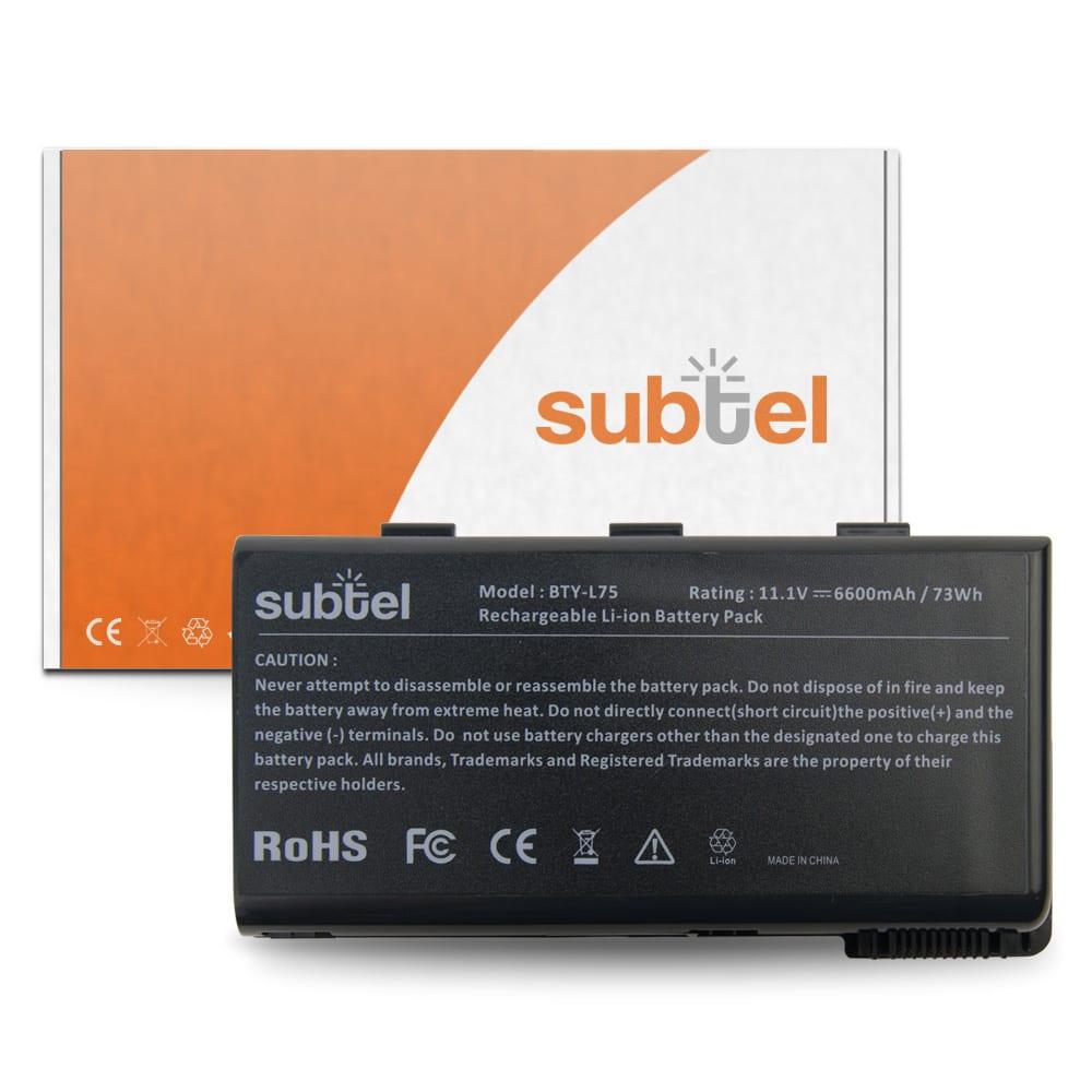Batería para MSI A5000/A6000/CR500/CR600/CR700/CX500/CX600/CX700 - BTY-L74 / BTY-L75 (6600mAh) Batería de Reemplazo