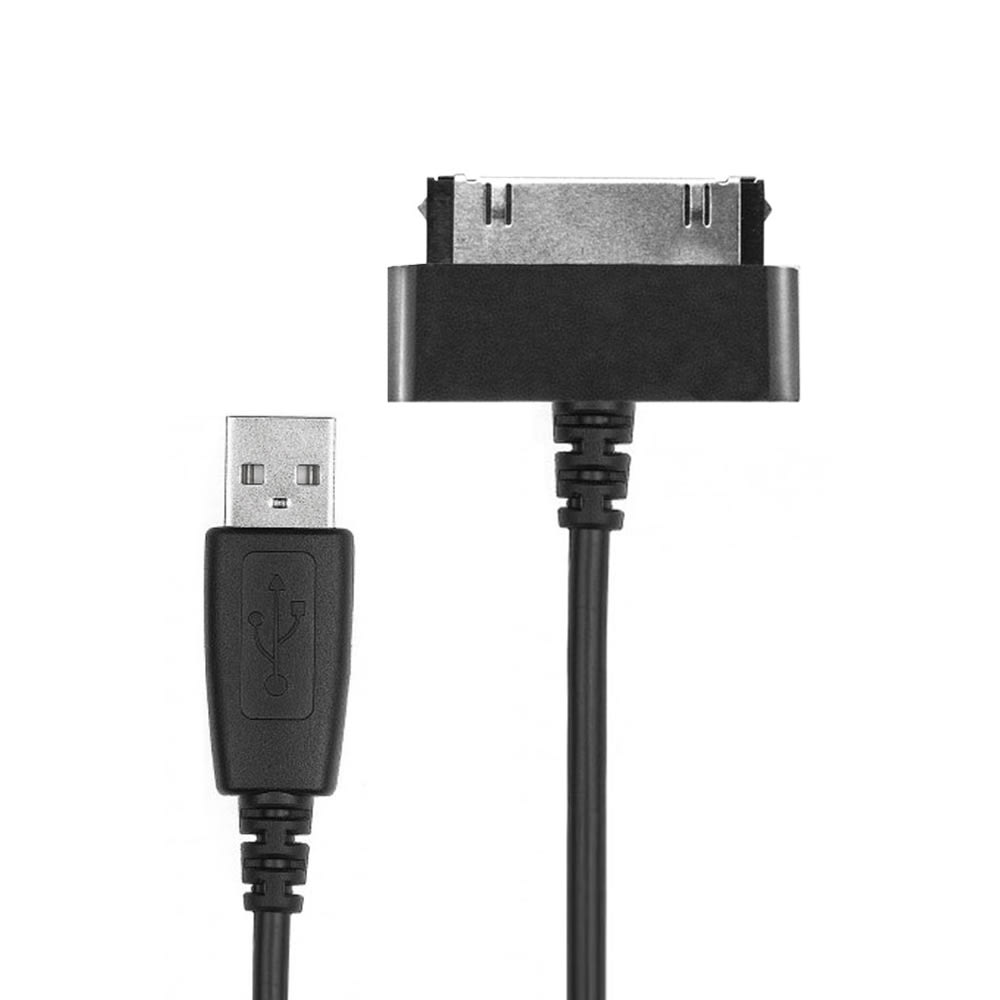 Datakabel voor Samsung Galaxy Note 10.1 / Tab 8.9 / Tab 10.1 / Tab 2 7.0 / Tab 2 10.1 - 1.0m USB kabel oplader, zwart