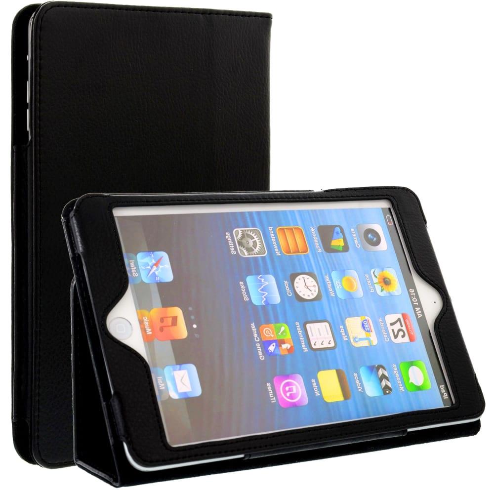 Smart Case für iPad mini / iPad mini 2 / iPad mini 3 (A1432 / A1454 / A1455 / A1599 / A1600) - Kunstleder, schwarz Tasche Case Schutzhülle