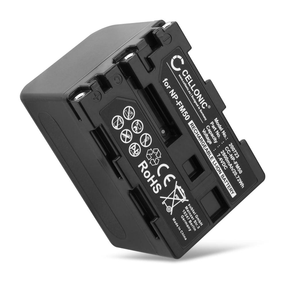 NP-FM50,-FM30,NP-QM71 Batteri för Sony HDR-HC1 DCR-TRV355 -TRV20 TRV270 TRV285 TRV330 TRV340 TRV350 TRV351 HVR-A1 HDR-UX1 GV-HD700e DCR-DVD201 CCD-TRV608, 2800mAh Kamera-ersättningsbatterimed lång batteritid
