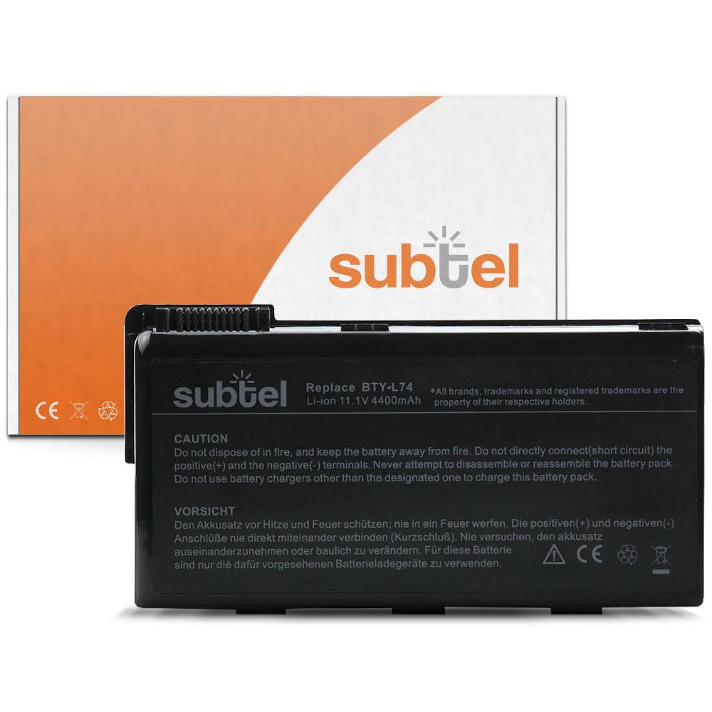 Batteri for MSI A5000/A6000/CR500/CR600/CR700/CX500/CX600/CX700 - BTY-L74 (4400mAh) reservebatteri