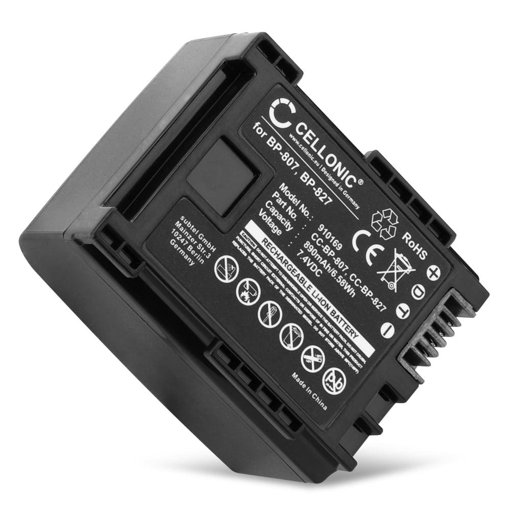 BP-807 BP-809 BP-819 BP-827 Batteri för Canon LEGRIA HF G25, G10, HF20, HF S20 | VIXIA HF G20 HF S30 HF200 HG20, 890mAh Kamera-ersättningsbatterimed lång batteritid