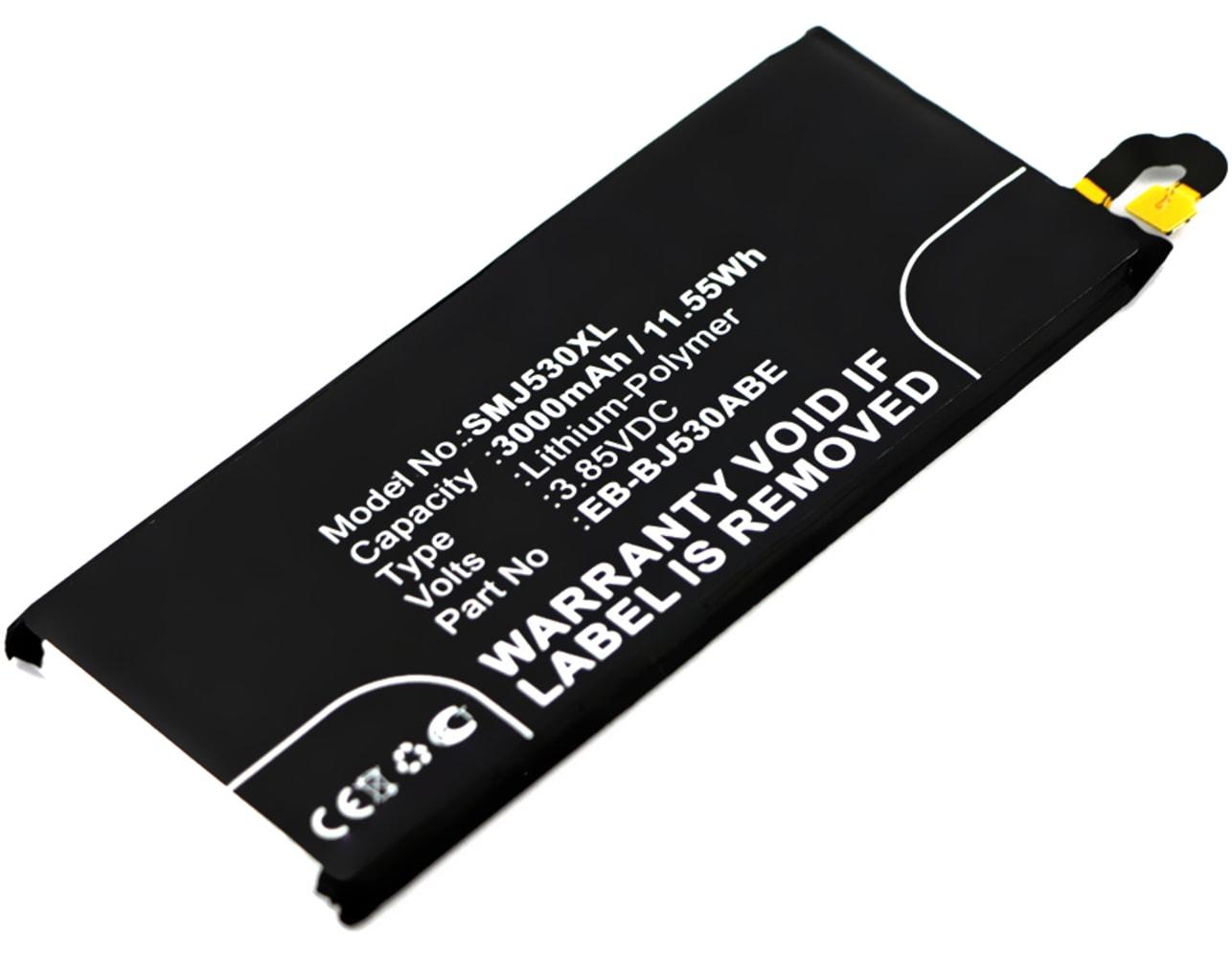 Batterie pour téléphone portableSamsung Galaxy J5 DUOS (2017 - SM-J530) - EB-BJ530ABE, 3000mAh interne neuve , kit de remplacement / rechange