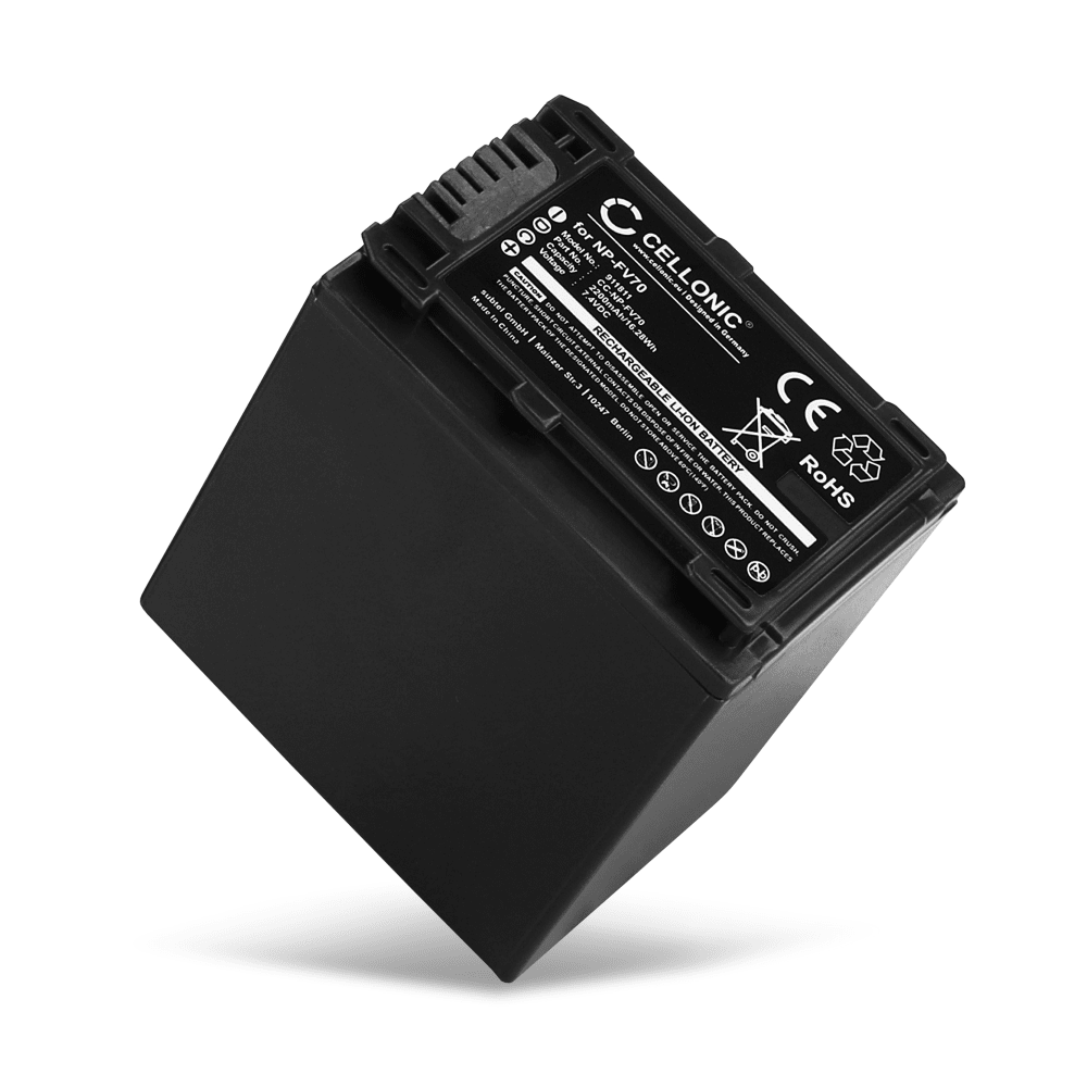 NP-FV90 Battery for Sony FDR-AX100 -AX100e, FDR-AX33, FDR-AX53, Sony HDR-CX625, HDR-CX450, -CX115 HDR-CX200 -CX220, -CX305, HDR-PJ810, HDR-PJ530e, Sony NEX-VG900, -VG20, Sony DCR-SX34 2200mAh Digital Camera Battery Replacement Spare Battery Backup Power Pack