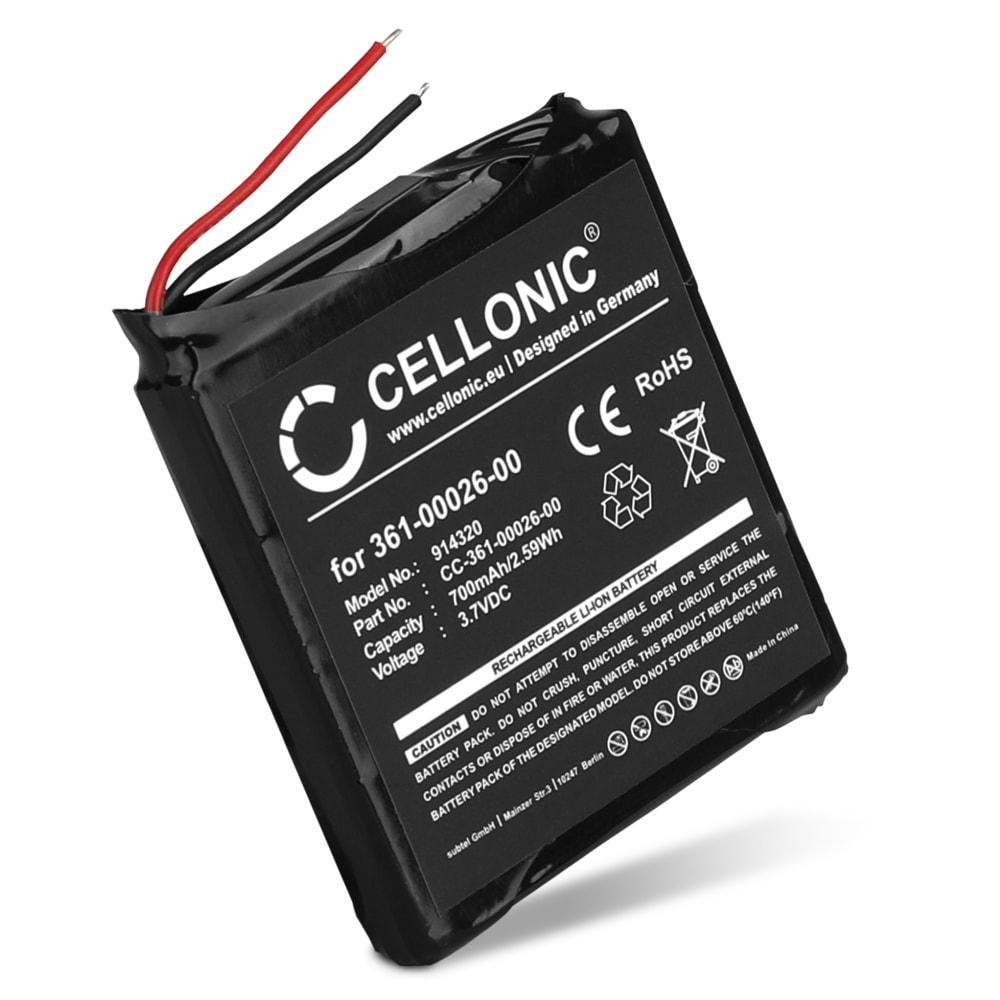 CELLONIC® 361-00026-00 Ersättningsbatteri för Garmin Forerunner 205, Forerunner 305 smartklocka / smartwatch med 700mAh