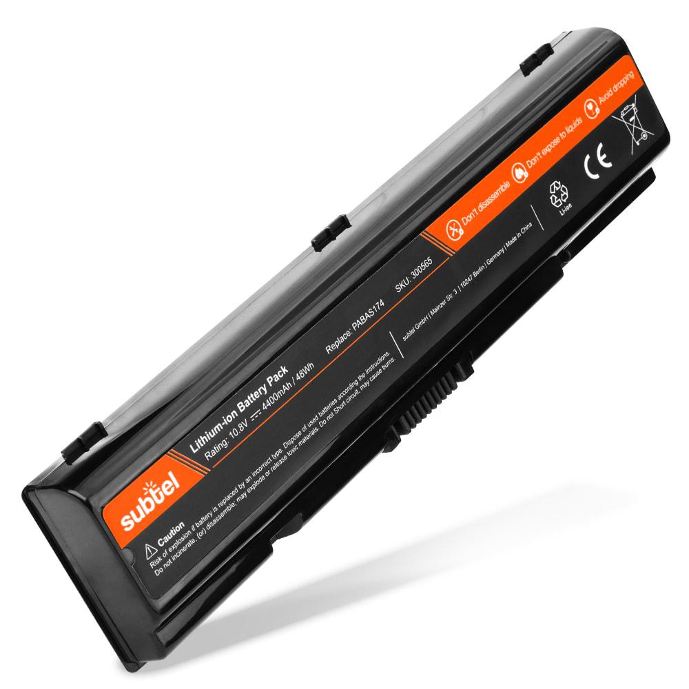 Batería para Toshiba Equium A210 / A200 / A300D / L300 / Satellite A200 / A205 - PABAS174 (4400mAh) Batería de Reemplazo