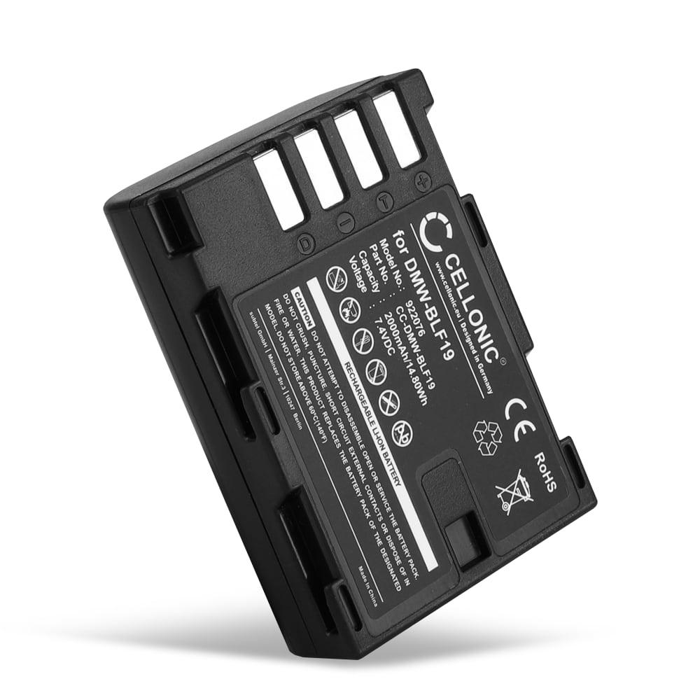 Kamera Akku für Panasonic GH5 Lumix DC-GH5s DMC-GH4 GH4 GH4r GH4h GH3 Lumix DMC-GH3h GH3a G9 Lumix DC-G9 - DMW-BLF19 DMW-BLF19E DMW-BLF19PP Ersatzakku 2000mAh , Batterie