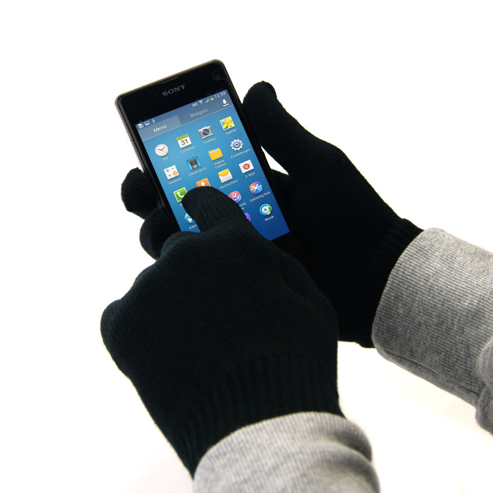 Touchscreen gloves for smartphone & tablet - size M