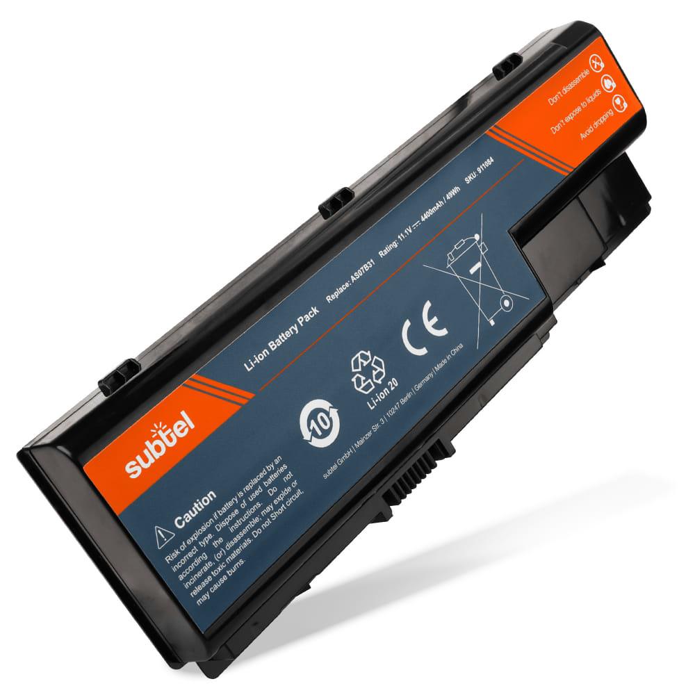 Batería para eMachines E520 / E720 / G420 / G520 / G620 / G720 / E510 - AS07B41 (10.8V)* (4400mAh) Batería de Reemplazo