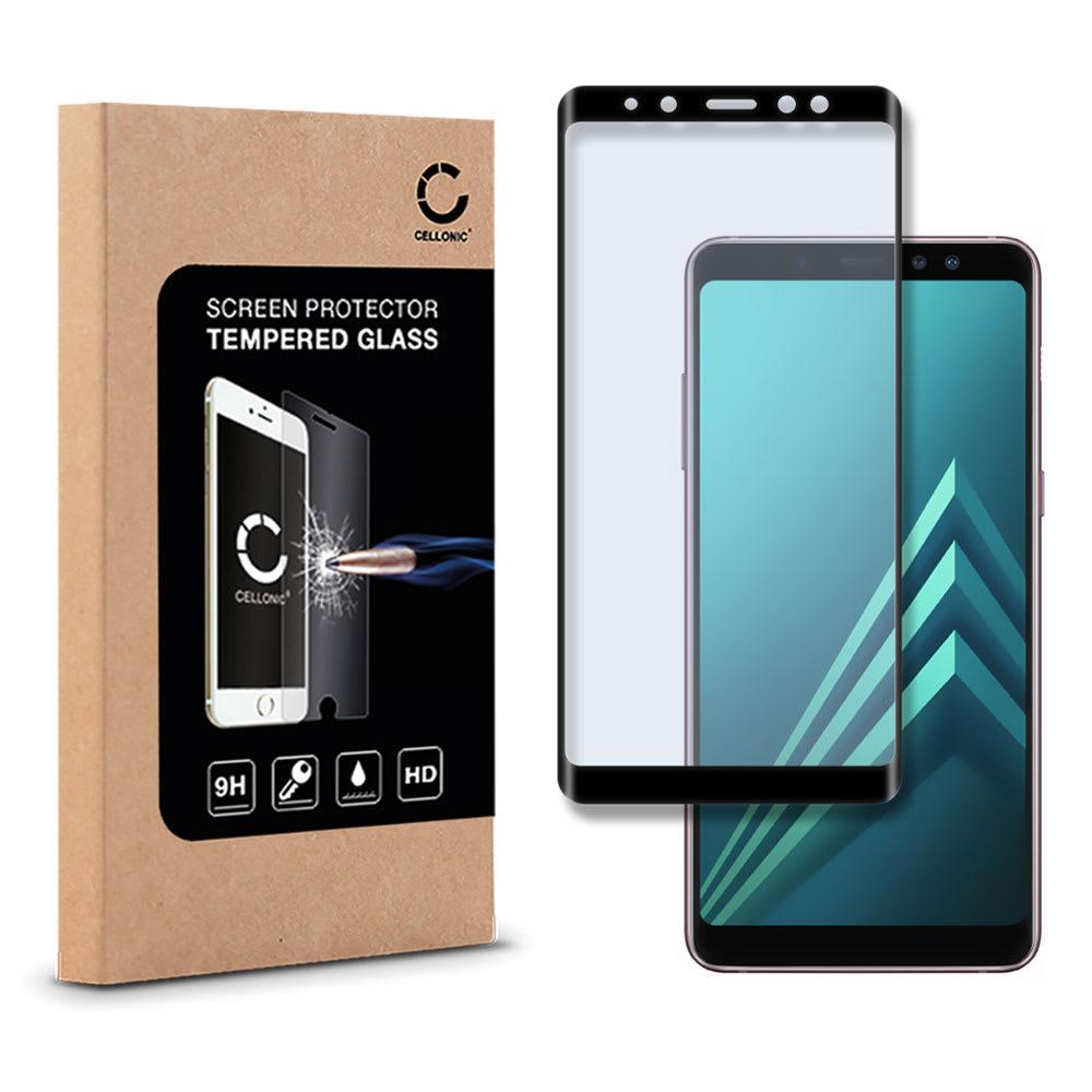 Protection d'écran en verre Samsung Galaxy A8 Plus (2018 - SM-A730) (3D Full Cover, 9H, 0,33mm, Edge Glue) Verre trempé