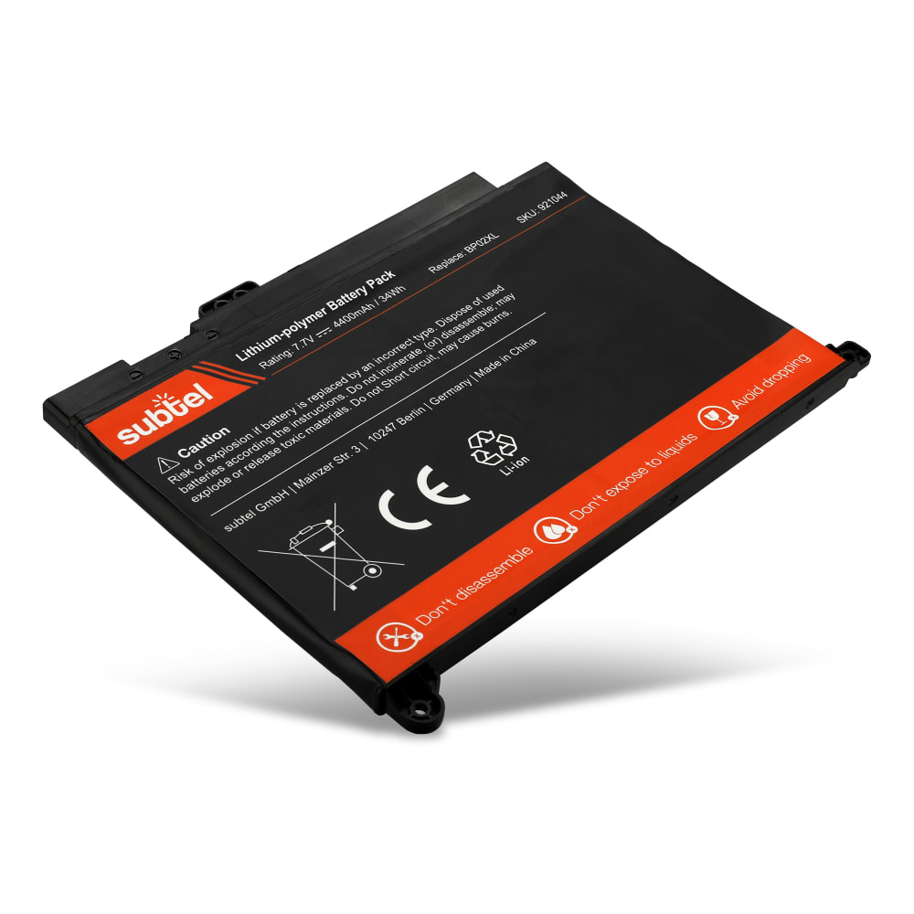 Akku für HP Pavilion 15-au000 / 15-au100 / 15-aw000 serie - Notebookakku BP02XL 4400mAh Ersatzakku, Laptopakku