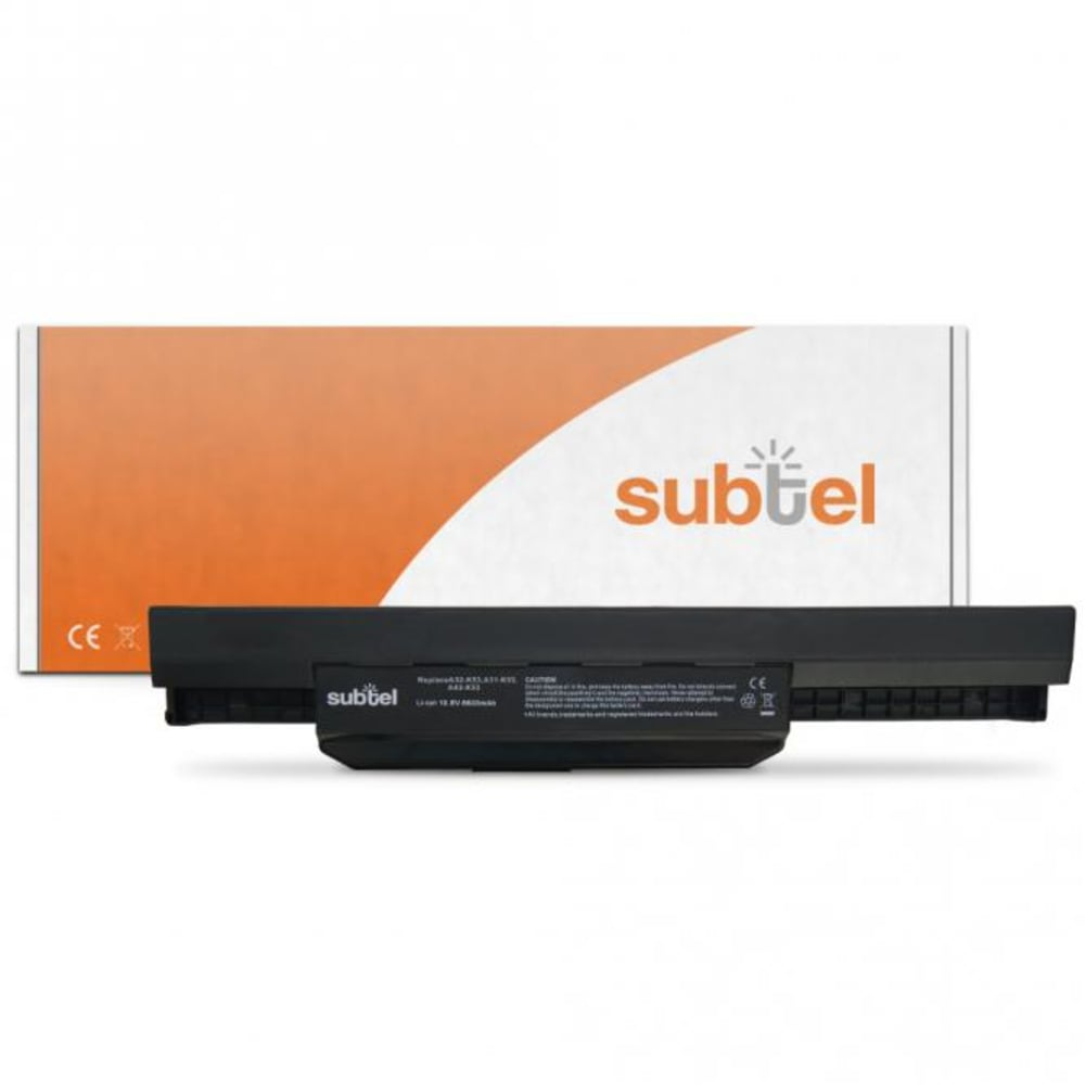 subtel® Laptop Battery for Asus A43 / A44 / A53 / A54 / A83 / A84 / K43 / K53 / K84 / P43 / P53 / Pro4J / Pro5N A32-K53 (10.8V)* 6600mAh Notebook Replacement Battery Power Bank