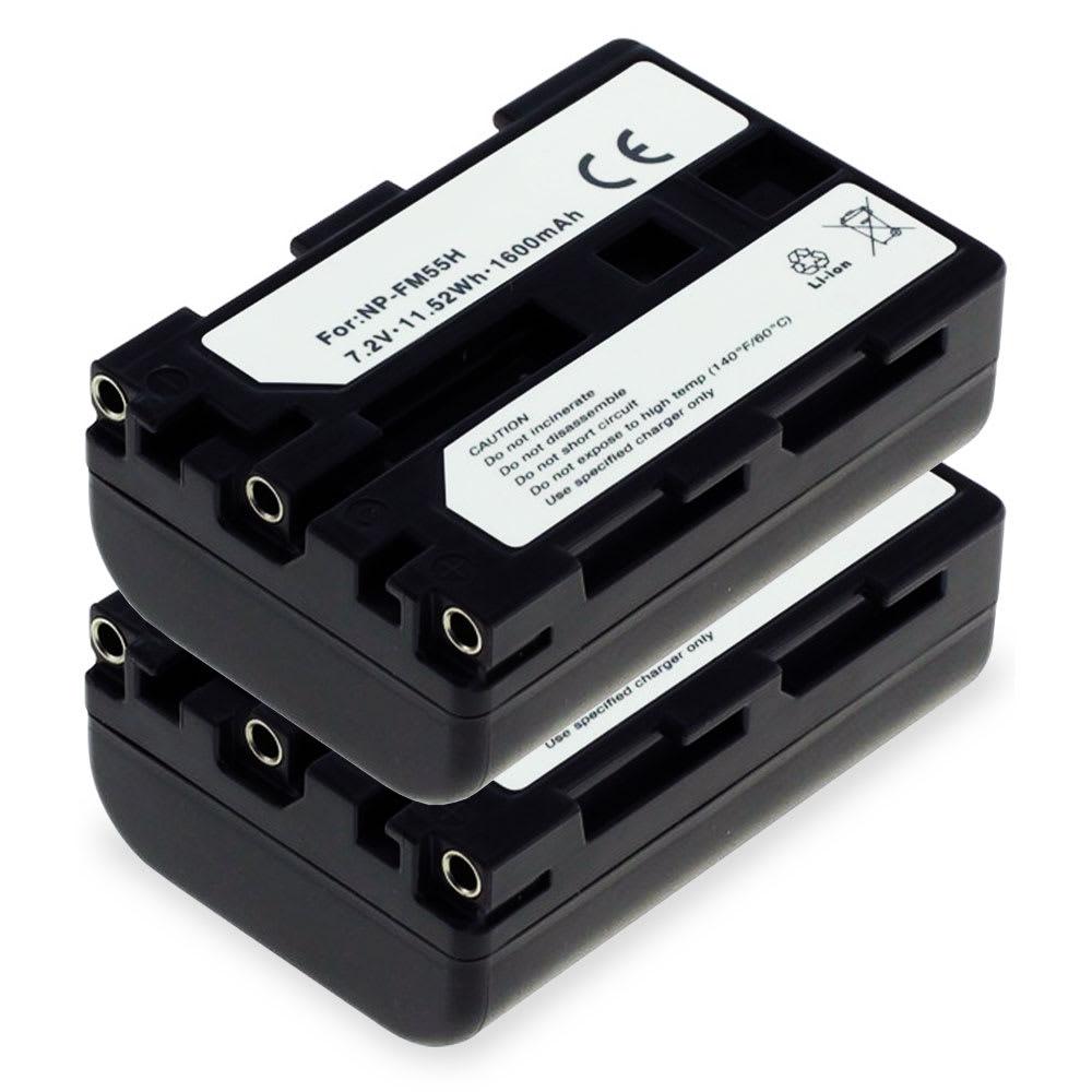 2x Batterie pour appareil photo Sony A99 II A77 II A7 II Alpha A57 A58 A65 A68 A200 A300 A450 A500 A550 A580 A700 A850 A900 SLT-A58 DSLR-A350 ILCA-77m2 - NP-FM500H 1600mAh Batterie Remplacement
